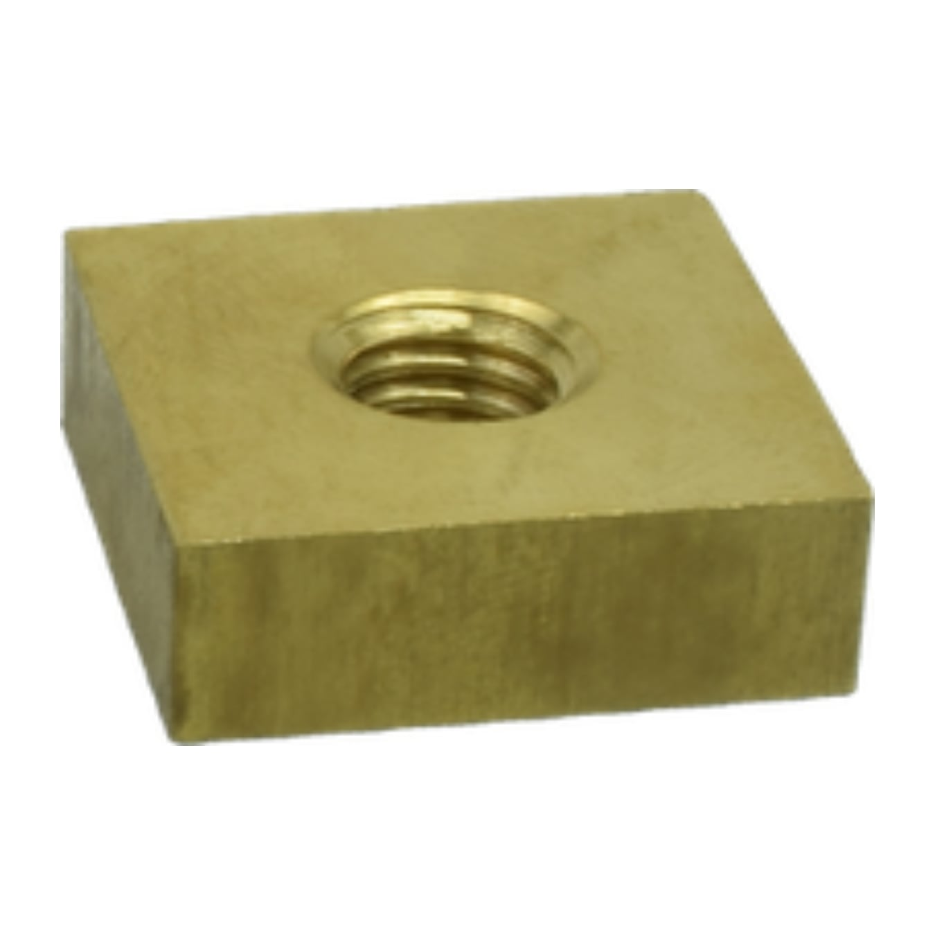 Brass Square Nut - 5G Hardware and Precast Concrete Accessories by Tengco, Inc.